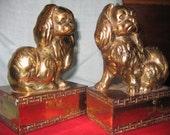 Chinese Brass Pekingese Dog Bookends