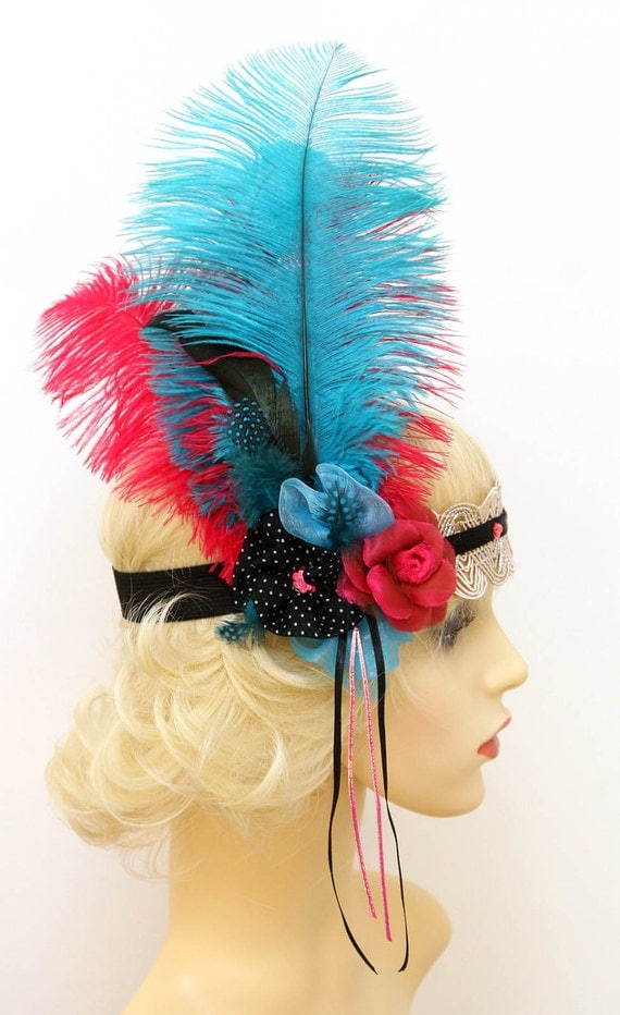 1920s Inspired Flapper Can Can Burlesque Hat Headband