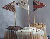 Digital Download - Mini Vintage Jubilee Union Jack Bunting Garland, Cupcake Flags - Ainjewelz