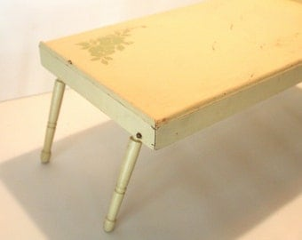 vintage bett tablett zum fr hst ck im bett oder lesen in. Black Bedroom Furniture Sets. Home Design Ideas