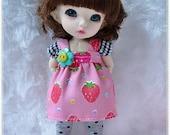Strawberry Glitter Set / Outfit for Lati yellow, PukiFee