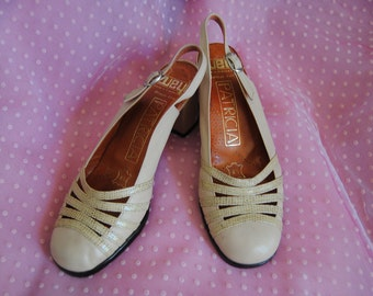 "Vintage 70's Shoes Cream ""Nice Ride"""
