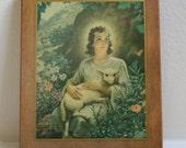 1945 Warner Sallman Kriebel Bates Plaque Jesus the Young Shepherd