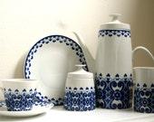 Rare East German Tea Pot and Full Tea Service for 6 - Lichte GDR