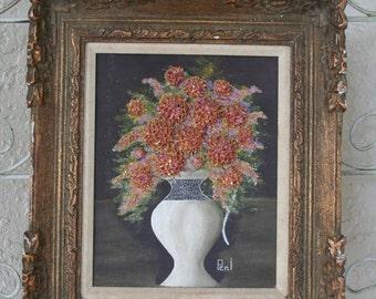Raised Textured Floral Still Life Painting