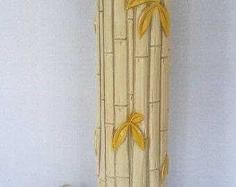 Hollywood Regency Faux Bamboo Lamp