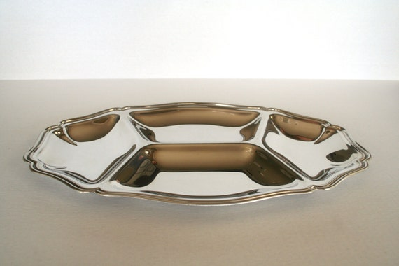 Vintage Guy Degrenne Stainless Steel, Mirrored Finish Appetizer Tray