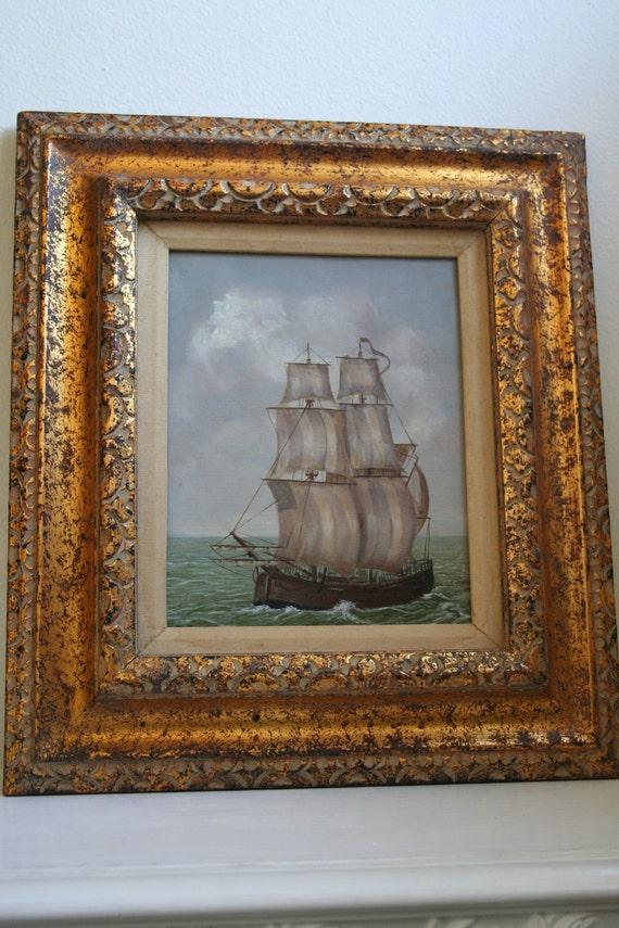 European 20th Century Dutch R. Sonck Original Nautical Painting