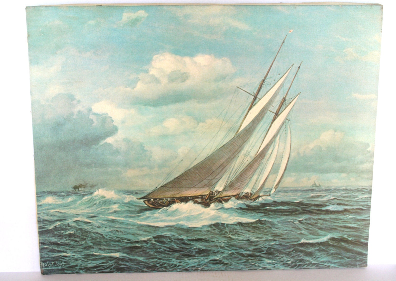 Johannes Holst 1959 Sailboat Print On Canvas