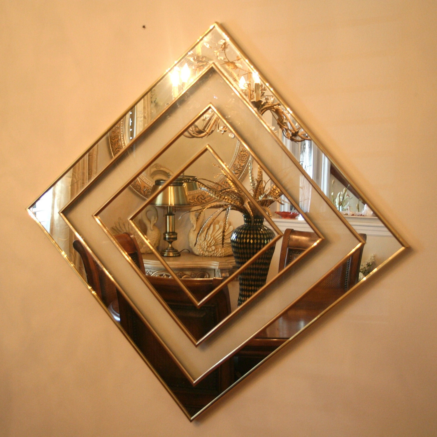 Retro Sharon Art Concept Geometric Mirror And Glass By