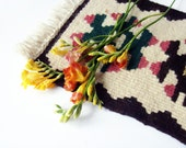30% SALE Spring Tradition - Rustic Kilim - Small Hand Woven Rug or Table Runner