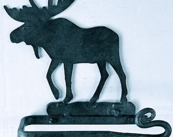 Wrought Iron Toilet Paper Holder-moose, horse or bear