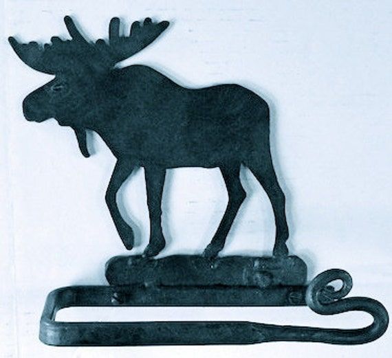 Wrought iron toilet paper holder moose horse or bear Animal toilet paper holder