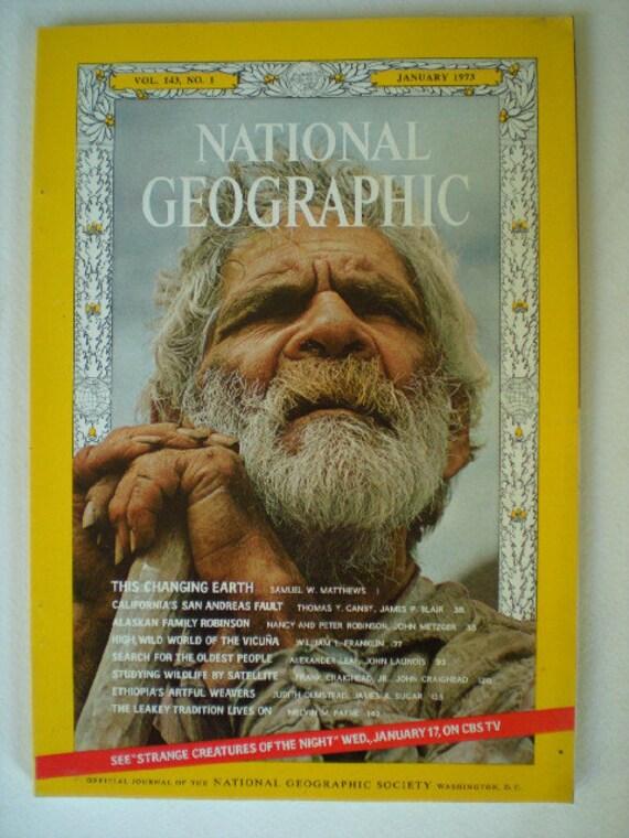 National Geographic Magazine: January 1973