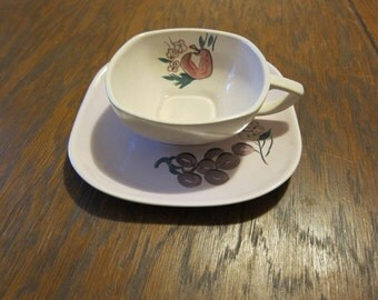Red Wing Pink Fruit Cup and Saucer