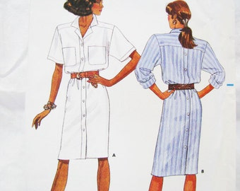 Pattern Butterick 6192 Dress Miss 12 14 16 NEW Factory Folds - Very EASY -  BEGINNER Friendly 1988