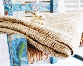 Burlap Hessian Jute Bag NEW Clean Unused & Ready to Embellish Away! Large Sz Rustic Farmhouse French Marketplace Bridal Decor