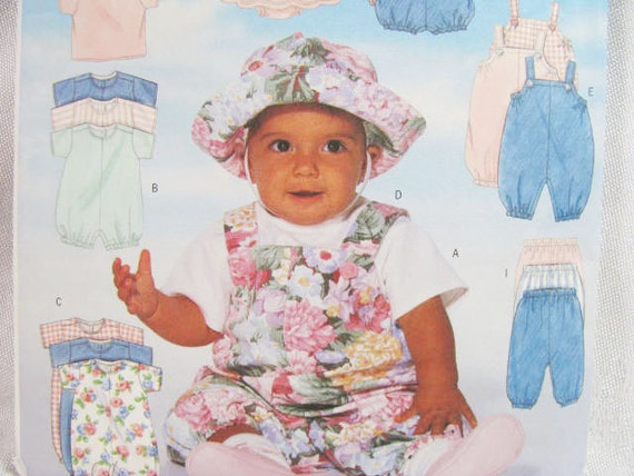 Pattern BABY Butterick 4791 Sewing NEW Factory Folds - EASY Newborn Sm. Med.-Beginner Friendly  2001 Treasury List