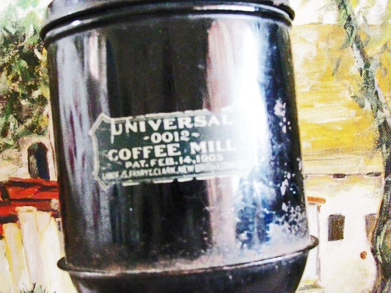 Antique COFFEE  Grinder  MILL Wall Mount KITCHEN Vintage Early 1900's - Treasury Item
