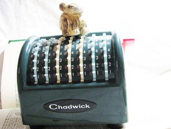 SALE Now Over 25% Off Vintage Industrial Chadwick Manual Handy Dandy Adding Machine-Office RETRO Madmen MIDCENTURY Geek-Desktop 1960s