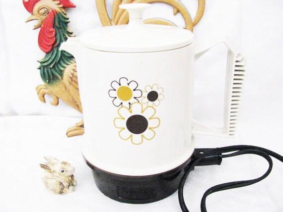 "SALE Now Over 30% Off-Vintage Regal Poly Perk Coffee Pot Appliance 70""s RETRO Boho Hippie Mod-Regalware"