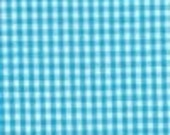 """Fabric Finders Turquiose and White 1/16"""" Gingham 60"""" Wide 1yd."""