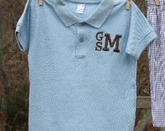 MONAG Short Sleeve BLANK Polo Size 2-10