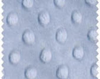 "Light Blue Minky Dot Fabric 60"" Wide 1yd."