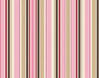 "Riley Blake - Wanna Be A Cowboy - Stripes - Pink 45"" 1yd"