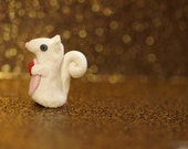 adorable little white squirrel valentines day fortheband