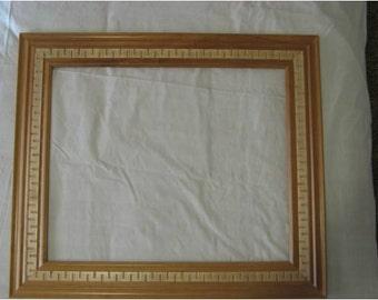 "Wooden art frame: Aztec Crown 21"" X 17 1/4"""