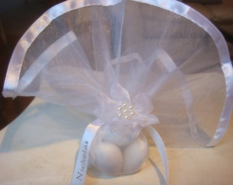 Wedding Favors - Wedding Bomboniera- Koufeta Favors - Sugared Jordan Almond Favors