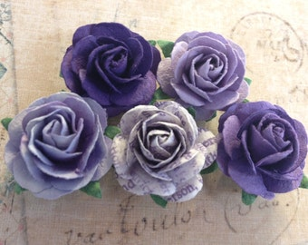 Purple Flower Magnets/Favors- Wedding, Christening & Other Special Occasions