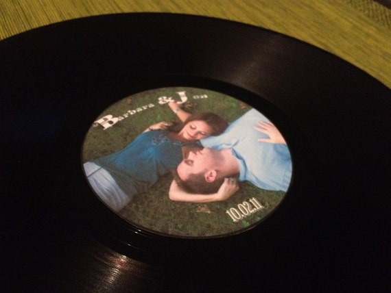 Wedding Gift Record Book: Personalized Wedding Vinyl Records & Center Labels Wedding