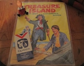 Vintage 1968 Treasure Island Cut-Out and Coloring Book - Quaker Oats