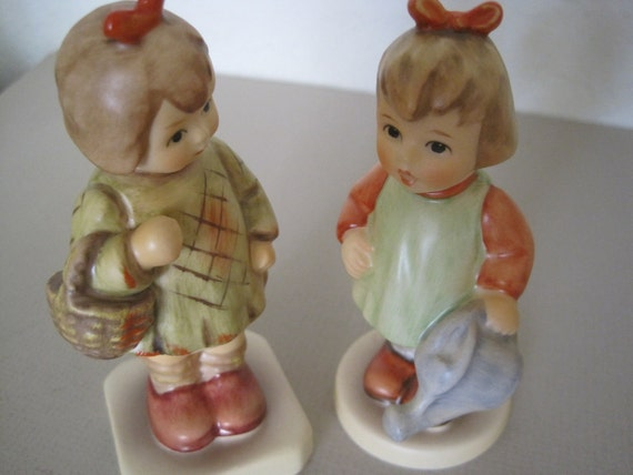 2 Goebel M.I. Hummel Figurines - Natures Gift - I Brought You A Gift