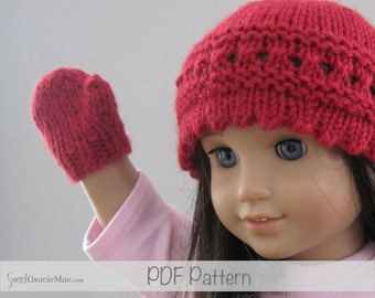 Knitting Pattern For American Girl Doll Mittens : Popular items for doll mittens on Etsy