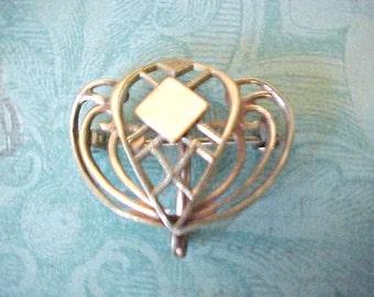 Lovely Art Nouveau Era Lady's Rose Gold Filled Watch Pin