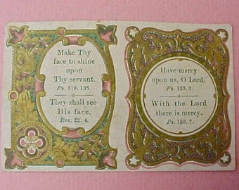 Charming Victorian Era Bible Quotations Scrap with Renaissance Styling