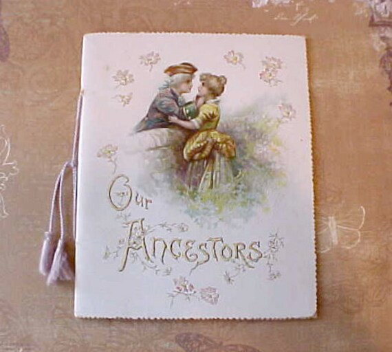 "Gorgeous Little Book:  ""Our Ancestors"" A Ballad by Burnside-Beautiful Illustrations"