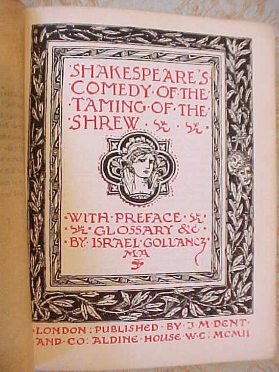 "1902 Edition of ""The Taming of the Shrew"" by William Shakespeare"
