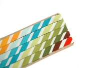 "colourful stripes - double fold, bias tape - 2.5 yards, 3/8"" wide"