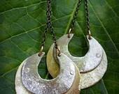 Double Crescent Moon Earrings