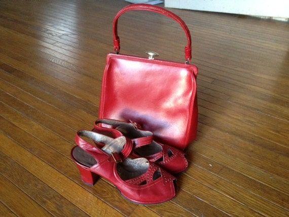 Set of Vintage Purse & Shoes