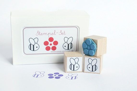 "Rubber Stamps ""Bee Love"" (Set of 3)"