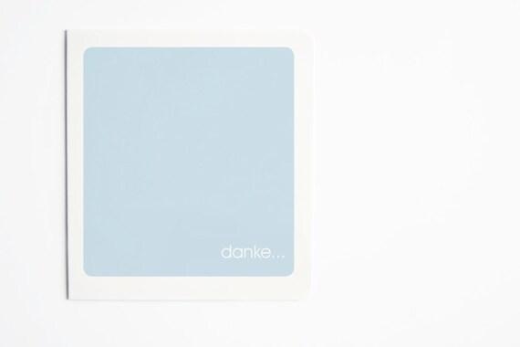 "Simplistic Wedding ""Thank You"" Card (Set of 5) German"