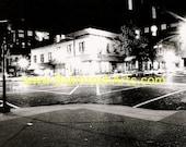 Court Street Athens, Ohio - Ohio University - 5x7 black and white photograph matted to 8x10