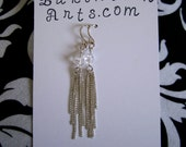 Chain Earrings with Swarovski Crystals