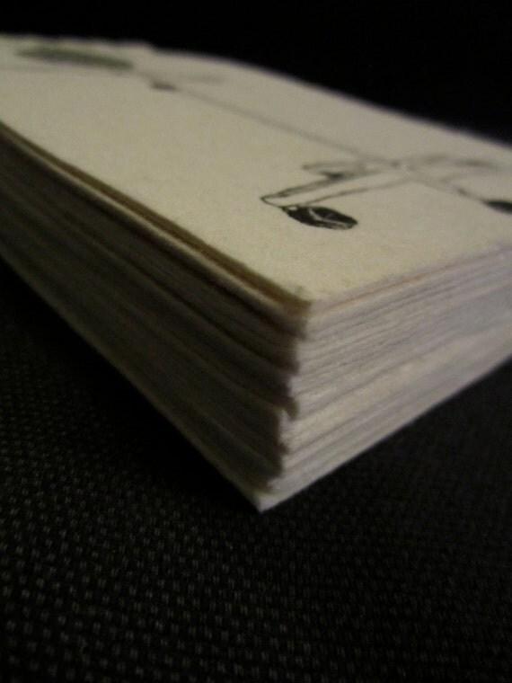 Speculum Bird Journal - hand pulled, super soft, white, cotton paper - stab bound