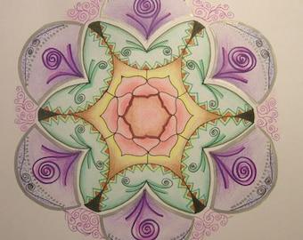 Violet Mandala original